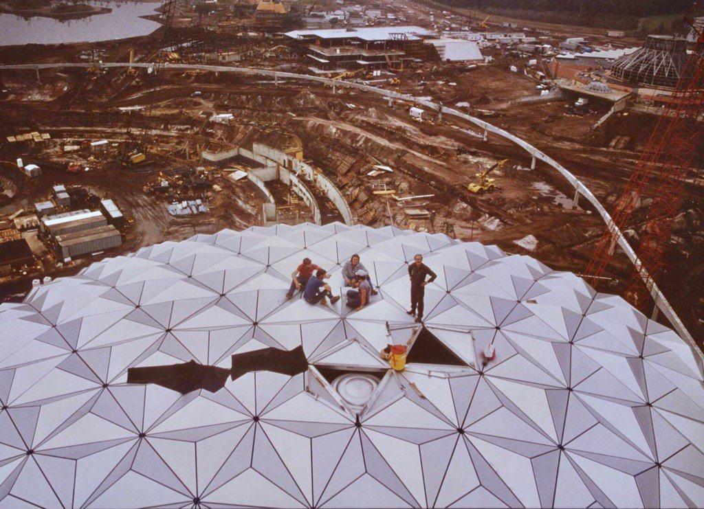 Spaceship Earth construction
