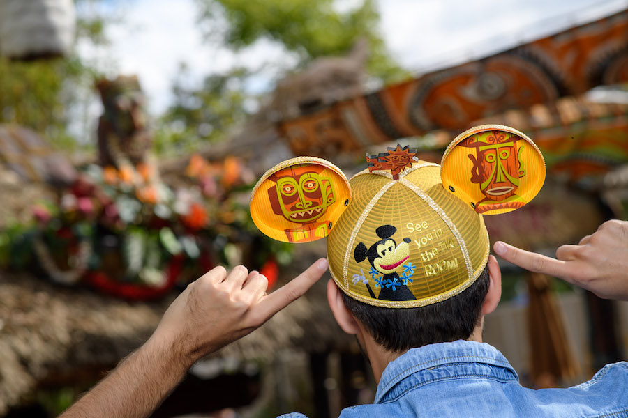 Disney D23 Expo Designer Collection Enchanted Tiki Room Mickey Ears Hat SHAG