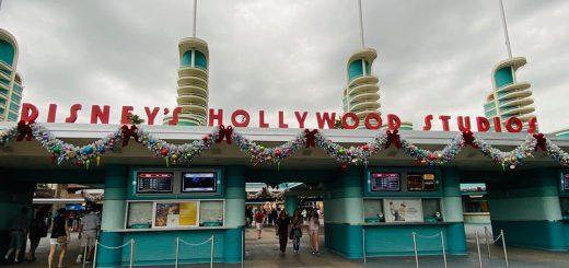 holiday decorations at Hollywood Studios