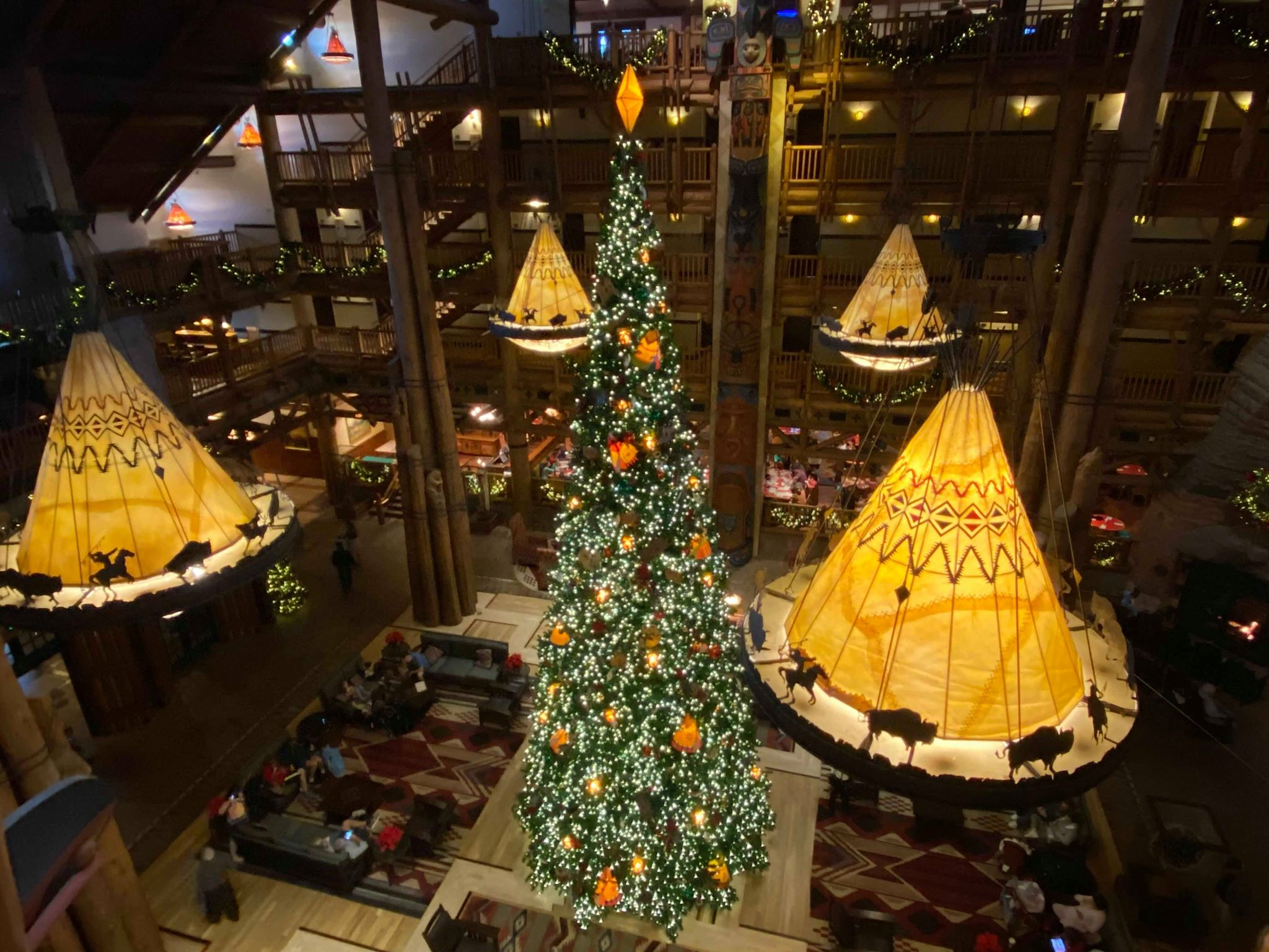 The Towering Christmas Tree Is Up at