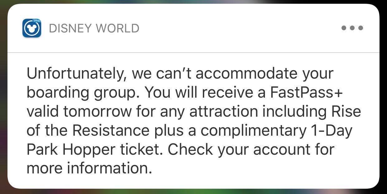 Free Tickets to Missed Boarding Groups