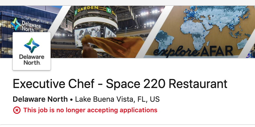 Space 220 opening delayed