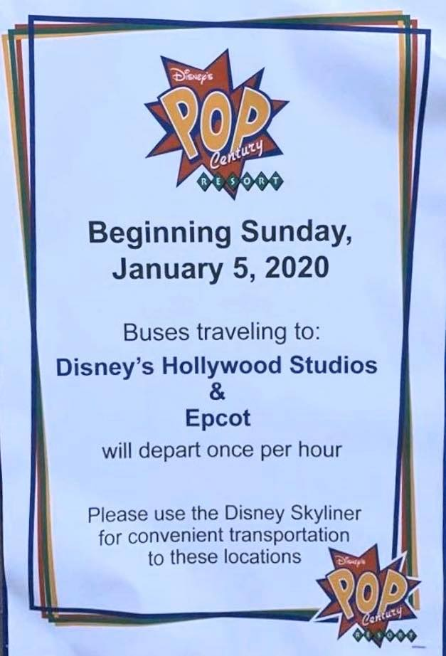 Resort Bus Changes