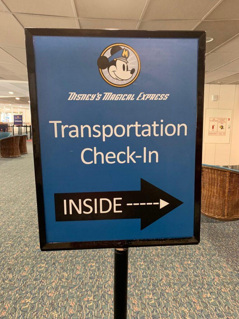 Magical Express sign