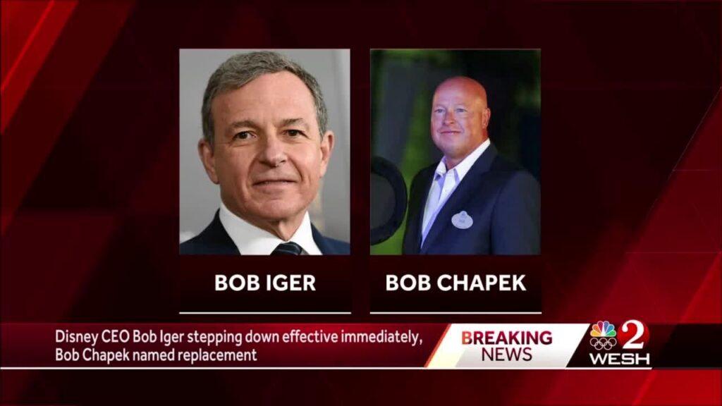 Iger Chapek Announcement