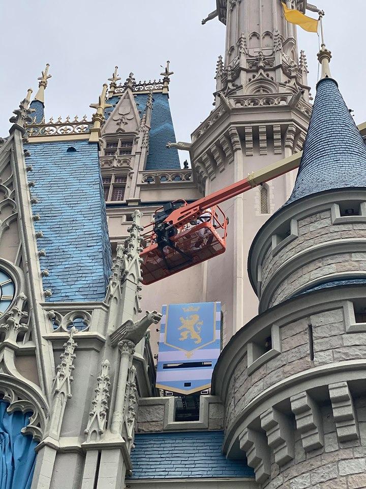 Cinderella Castle cranes