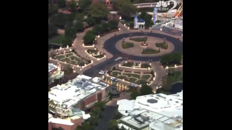 Empty Walt Disney World.