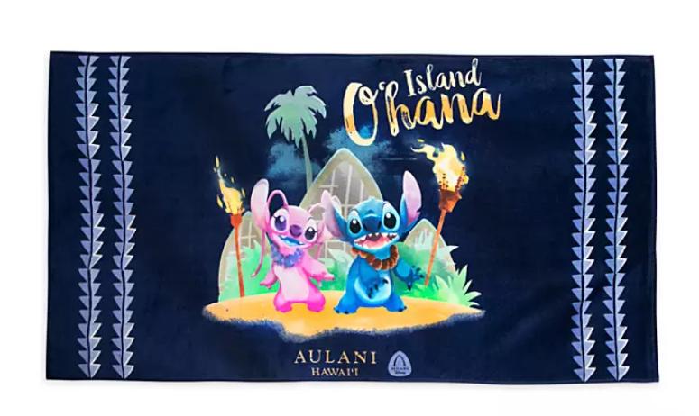 Aulani Lilo & Stitch beach towel