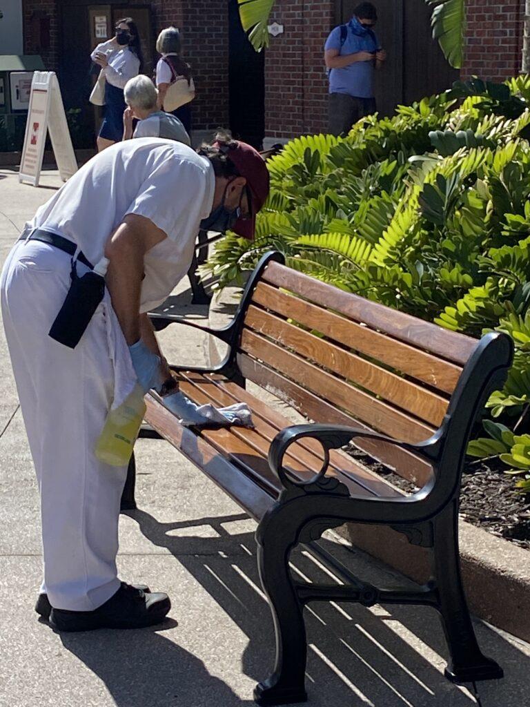 Disney Springs cleaning