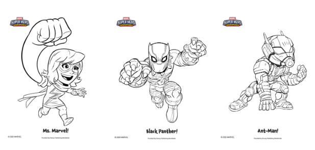 Coloring Fun With Marvel Super Hero Adventures - MickeyBlog.com