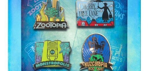 D23 Fantastic Worlds Pin Set