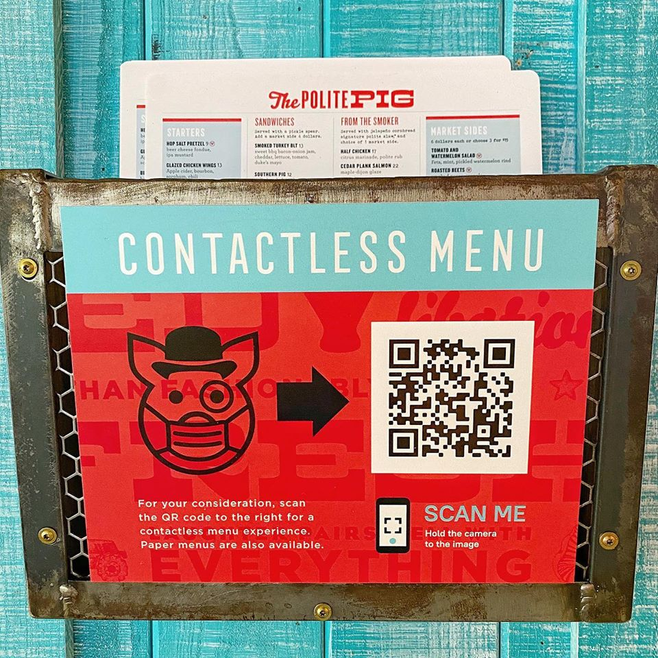 The Polite Pig Contactless Menu