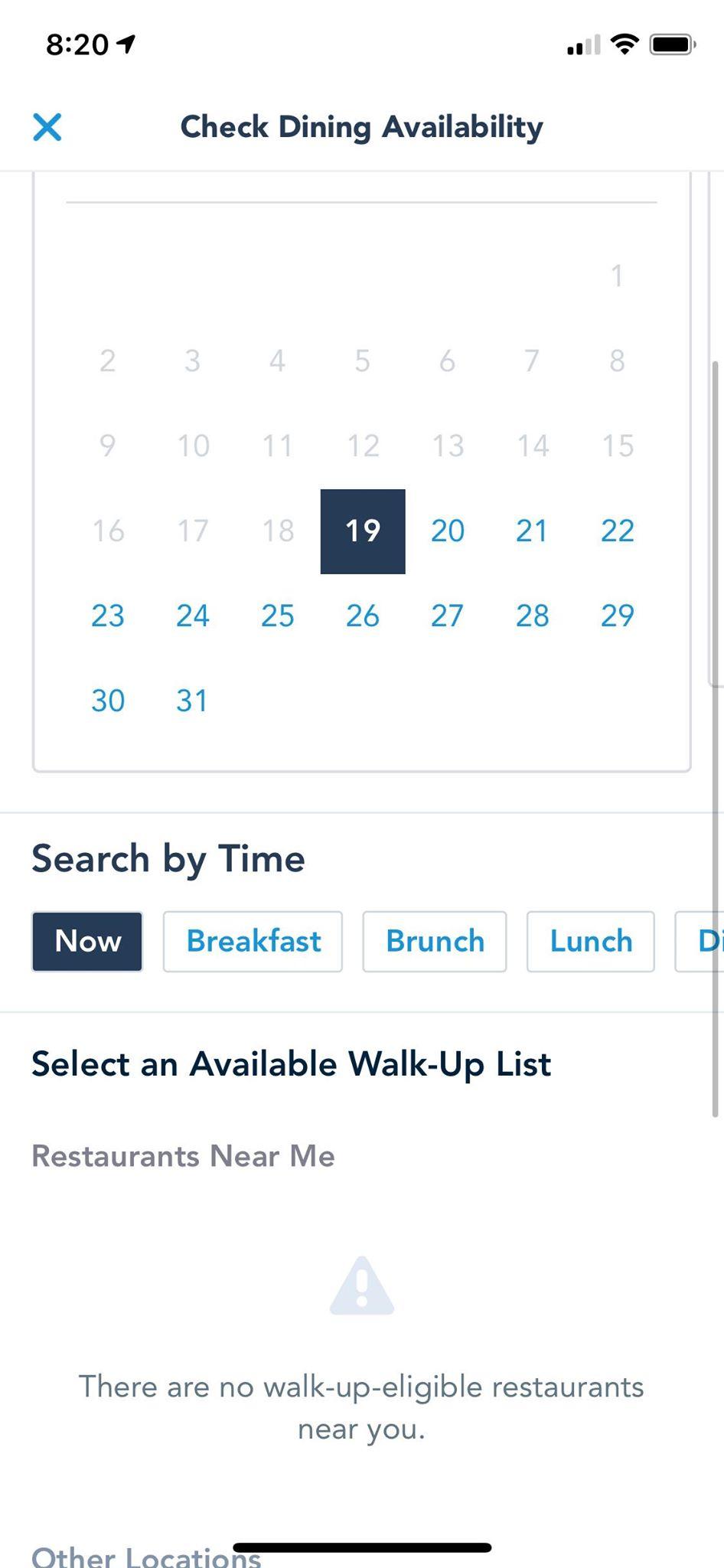 Restaurant Walk Up Lists