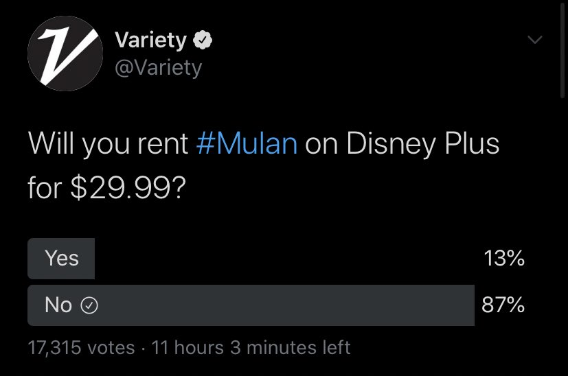How The Twitter Community Feels About $29.99 For 'Mulan' Rental ...