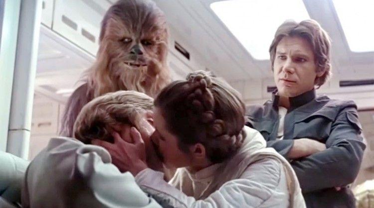 Chewbacca, Luke Skywalker, Leia Organa, Han Solo, Carrie Fisher, Mark Hamill, Han Solo, Peter Meyhew