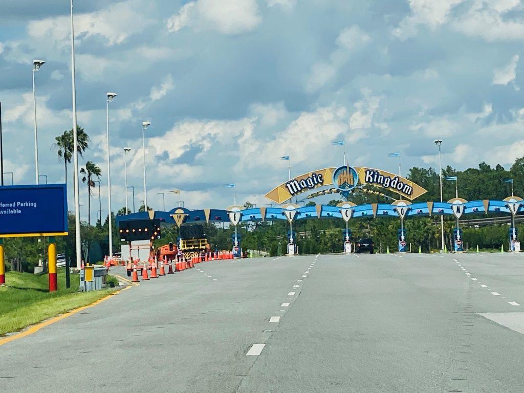 Magic Kingdom entrance work