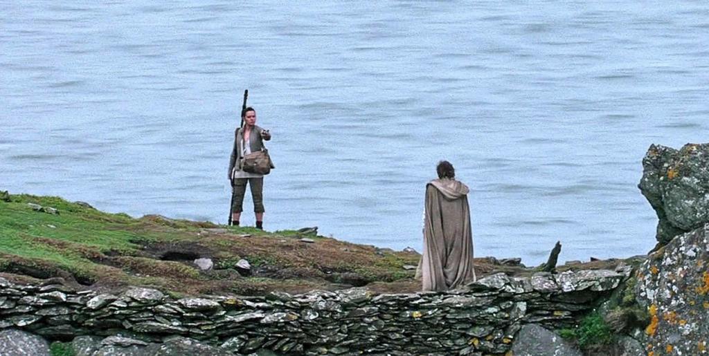 Rey, Daisy Ridley, Luke Skywalker, Mark Hamill