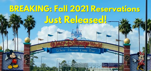 2021 Walt Disney World Reservations