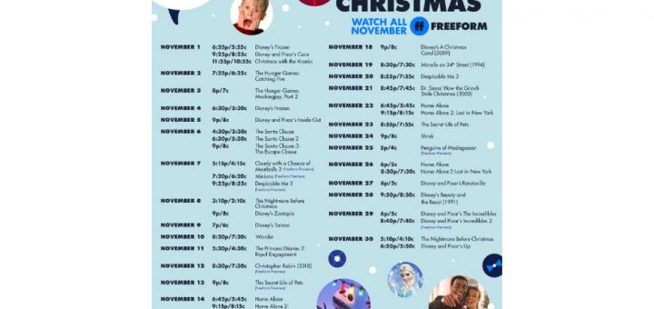 Freeform Kickoff to Christmas