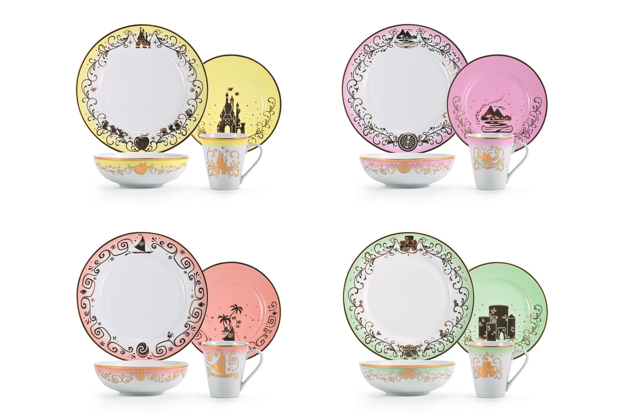 Disney Princess Collection Dinnerware and Tea Set ...