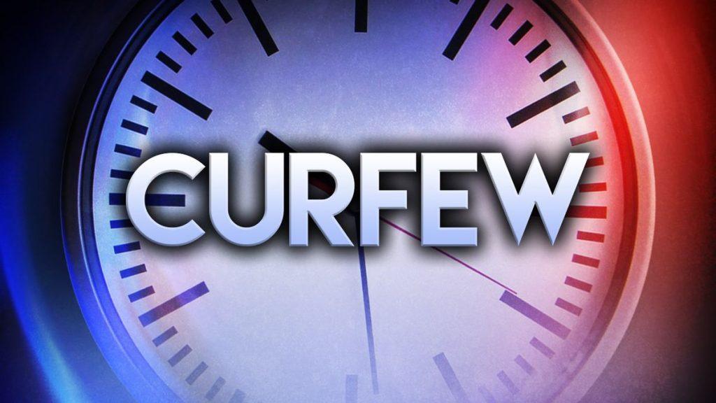 California curfew