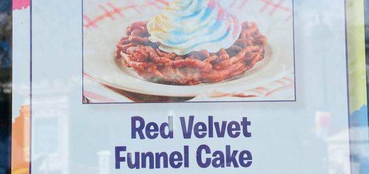 Red Velvet Funnel Cake