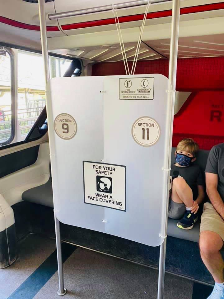 Disney Red Monorail