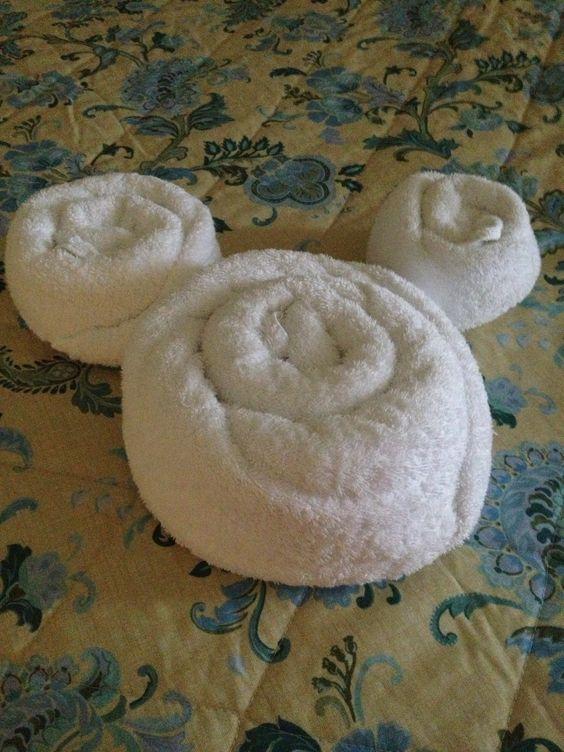 Mickey head towel