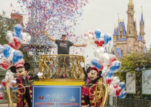 Rob Gronkowski celebrates Super Bowl win