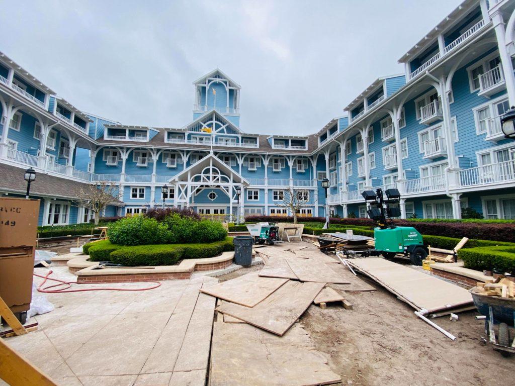 construction at beach club