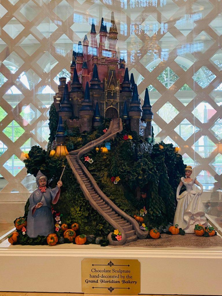 castle chocolate display