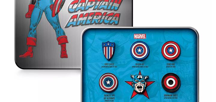 Captain America D23 pins