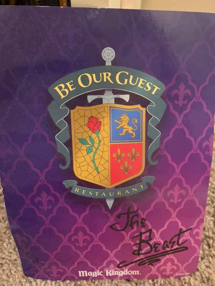 Be Our Guest Autograph