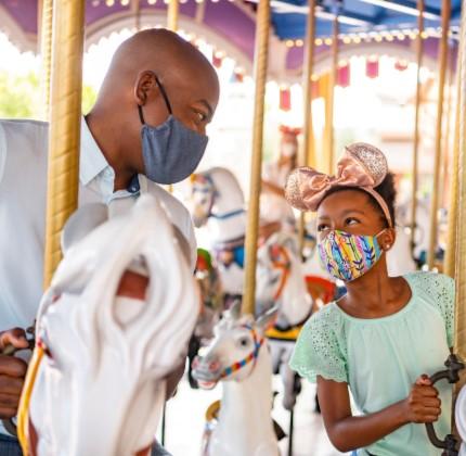 Disneyland carousel masks