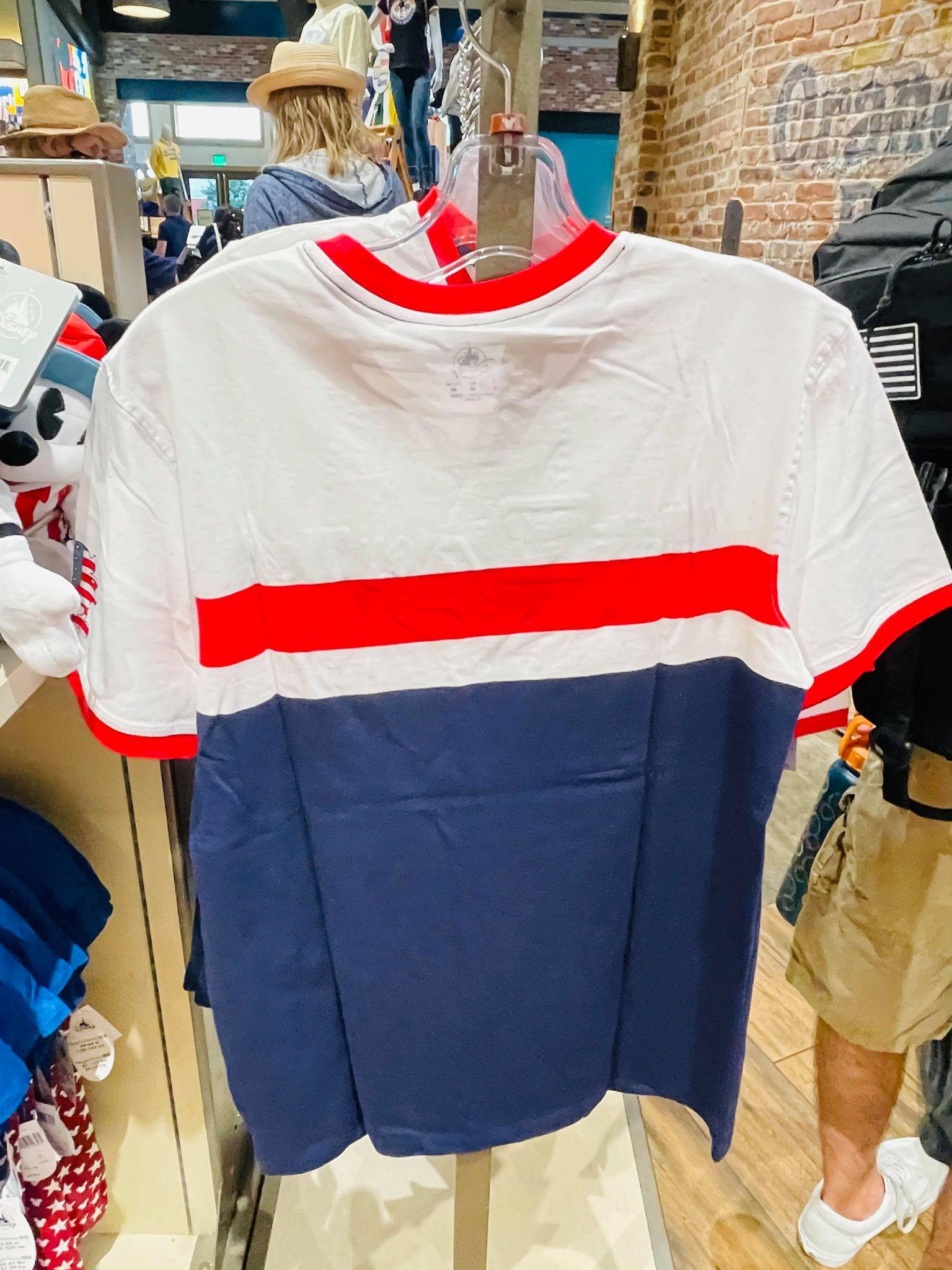 Red White Blue Shirt Back
