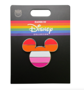 lesbian flag pin rainbow collection