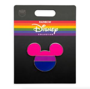 bi flag pin rainbow collection