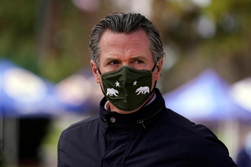 Gavin Newsom CA governor mask