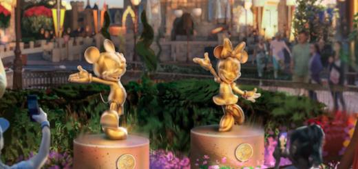Disney World, Minnie, Mickey, Statue