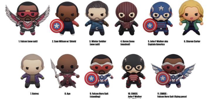 The Falcon and The Winter Soldier Monogram Bag Clips