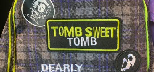 tomb sweet tomb bookbag