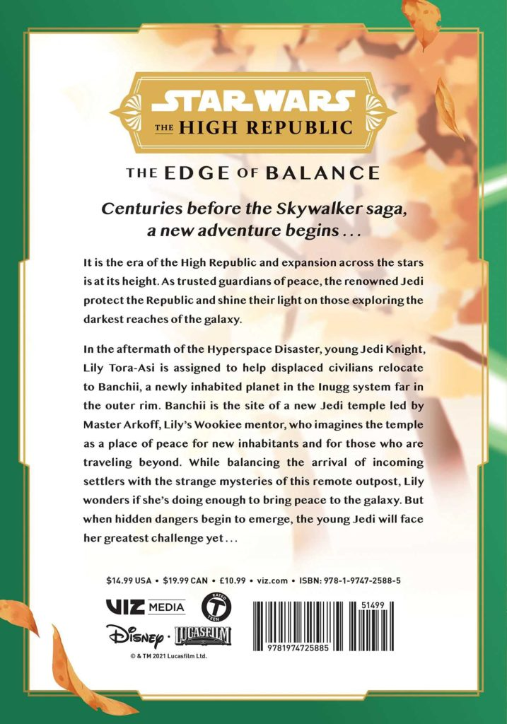 Star Wars Manga, Star Wars High Republic, Edge of Balance