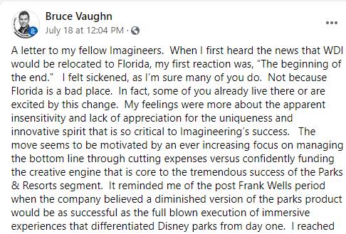 Bruce Vaughn Facebook post