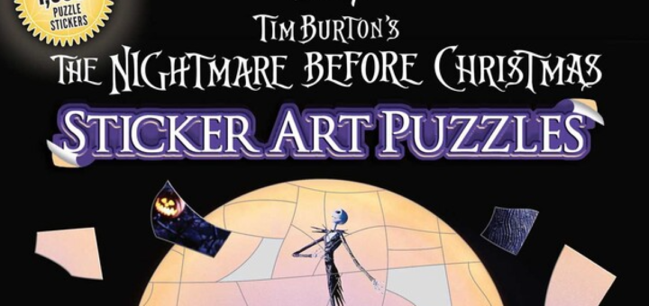 The Nightmare Before Christmas Sticker Art Puzzles cover