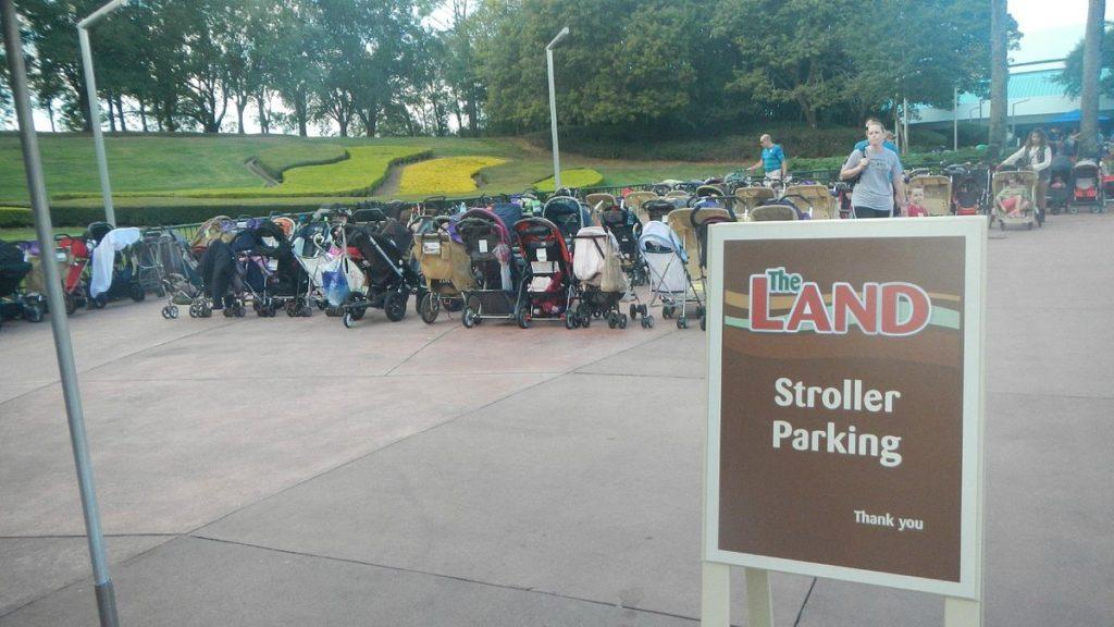 Stroller Parking at The Land Pavilion