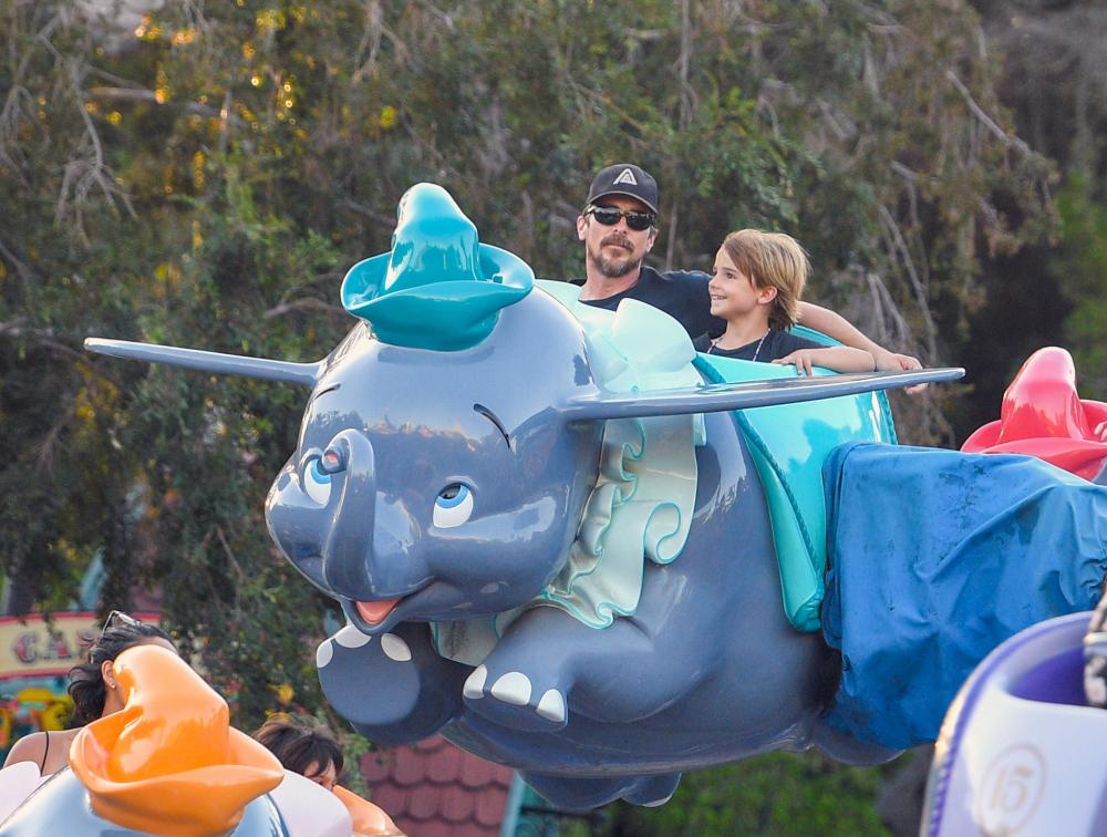 Christian Bale at Disneyland
