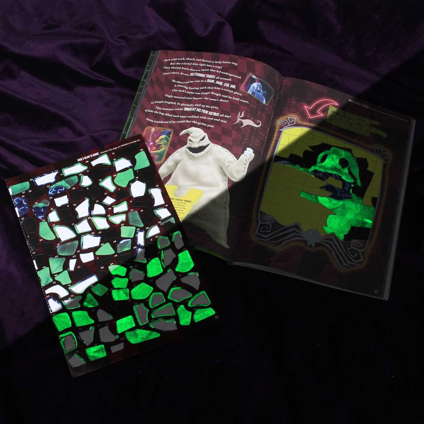 The Nightmare Before Christmas Sticker Art Puzzles interior