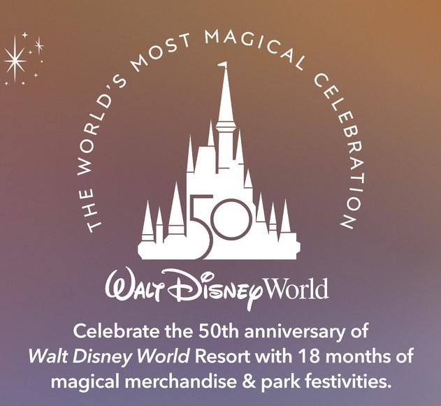 Disney World first 50th merchandise