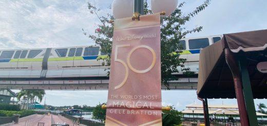 magic kingdom 50th anniversary banners