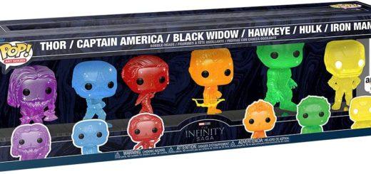 Marvel Infinity Saga - Avengers with Base (6 Pack) Funko